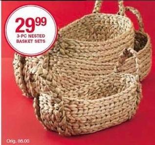 Belk Black Friday: Nested 3-pc. Basket Sets for $29.99
