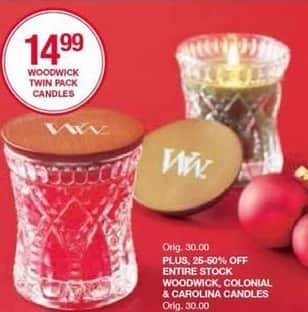 Belk Black Friday: Entire Stock of Woodwick, Colonial, And Carolina Candles - 25-50% Off