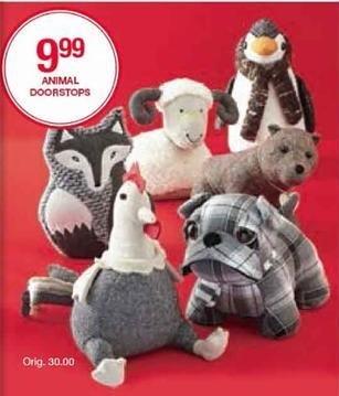 Belk Black Friday: Animal Doorstops for $9.99
