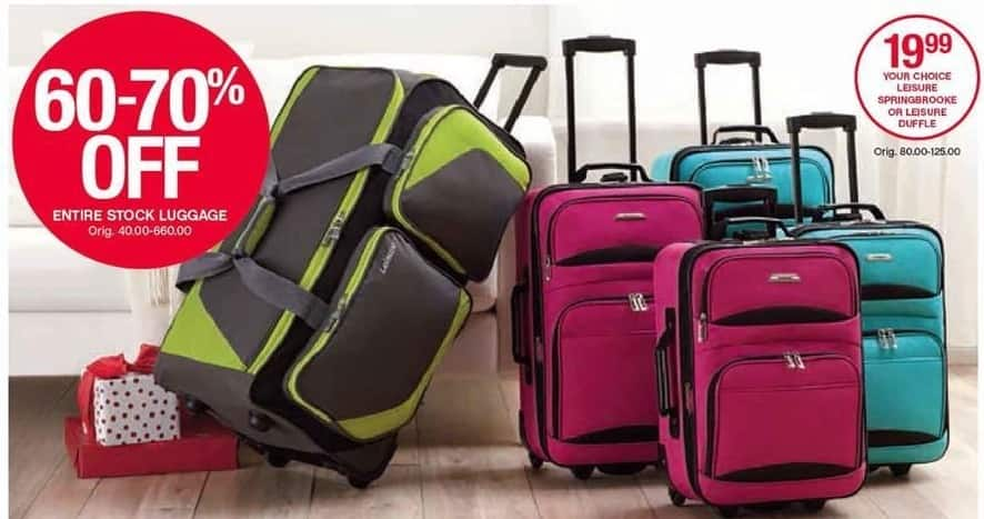 Belk Black Friday: Entire Stock Luggage - 60-70% Off