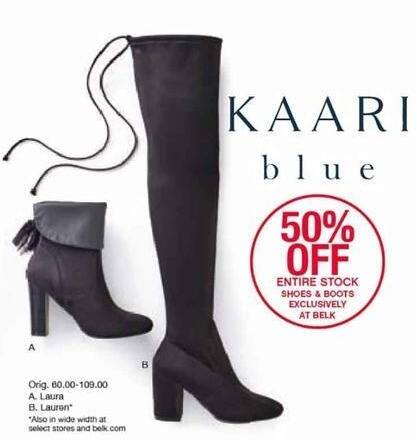Belk Black Friday: Entire Stock of Kaari Blue Shoes & Boots - 50% Off
