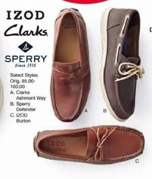 Belk Black Friday: Izod, Clarks, and Sperry Men's Shoes, Select Styles - B1G1 Free