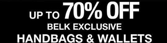Belk Black Friday: Belk Exclusive Handbags And Wallets - Up to 70% Off