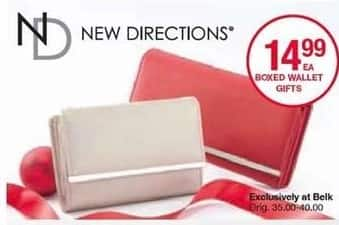 Belk Black Friday: New Directions Boxed Wallet Gifts for $14.99