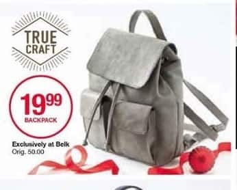 Belk Black Friday: True Craft Backpack for $19.99