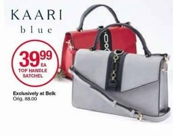 Belk Black Friday: Kaari Blue Top Handle Satchel for $39.99