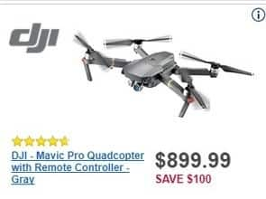 Best Buy Black Friday: DJI Mavic Pro Grey Quadcopter w/ Remote Controller for $899.99