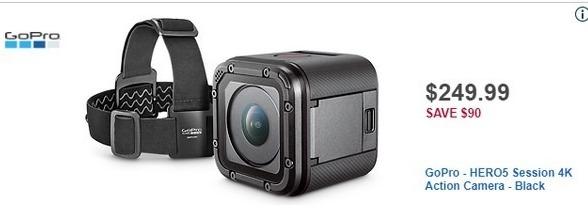 Best Buy Black Friday: GoPro HERO5 Session 4K Action Black Camera for $249.99
