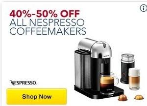 Best Buy Black Friday: All Nespresso Coffeemakers - 40-50% Off
