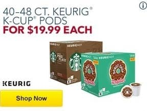Best Buy Black Friday: 40-48 ct. Keurig K-Cup Pods for $19.99