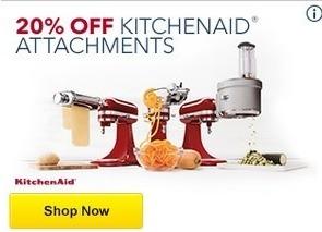 Best Buy Black Friday: Kitchenaid Attachments - 20% Off