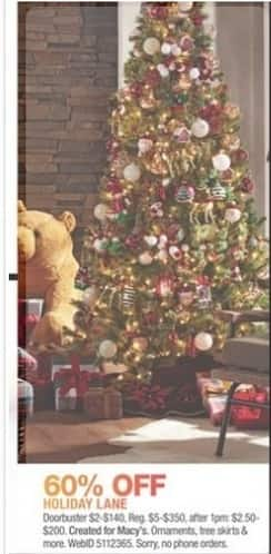Macy's Black Friday: Holiday Lane Ornaments, Tree Skirts and More. - 60% Off