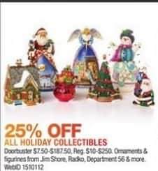 Macy's Black Friday: All Holiday Collectibles Ornaments & Figurines from Jim Shore, Radko, Department 56 & More - 25% Off