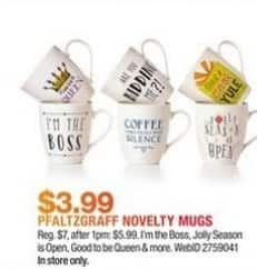 Macy's Black Friday: Pfaltzgraff Novelty Mugs for $3.99