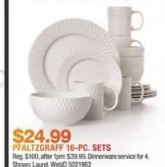 Macy's Black Friday: Pfaltzgraff 16-PC Sets for $24.99