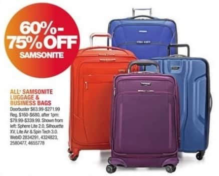 Macy's Black Friday: All Samsonite Luggage & Business Bags - 60-75%  Off