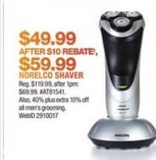 Macy's Black Friday: Norelco Shaver for $49.99 after $10.00 rebate