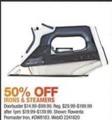 Macy's Black Friday: Irons & Steamers - 50% Off