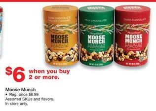 Staples Black Friday: (2 or More) Moose Munch for $6.00