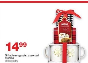 Staples Black Friday: Giftable Mug Sets (Assorted) for $14.99