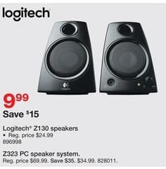 Staples Black Friday: Logitech Z130  Speakers for $9.99