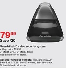 Staples Black Friday: Guardzilla HD Video Security System (White) for $79.99