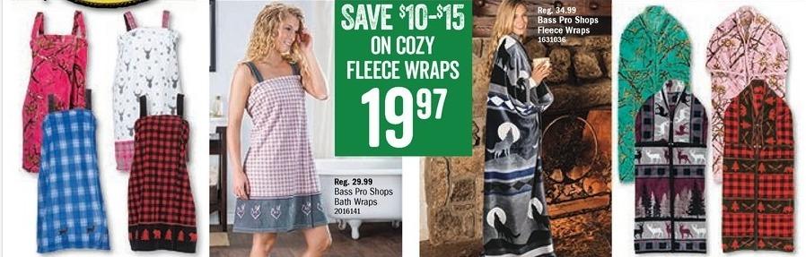 Bass Pro Shops Black Friday: Bass Pro Shops Fleece Wraps for $19.97