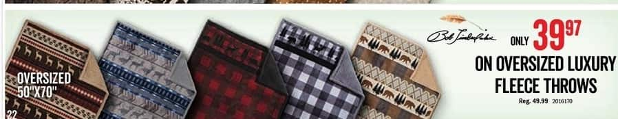 "Bass Pro Shops Black Friday: Oversized 50""x70"" Luxury Fleece Throws for $39.97"