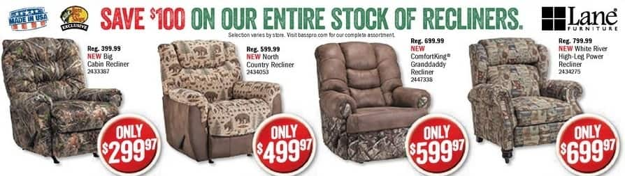 Bass Pro Shops Black Friday: Lane Furniture North Country Recliner for $499.97