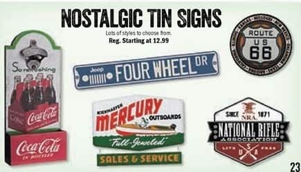 Bass Pro Shops Black Friday: Nostalgic Tin Signs - Starting At $12.99