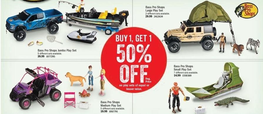 Bass Pro Shops Black Friday: Play Sets (Of Equal Or Lesser Value) - B1G1 50% Off