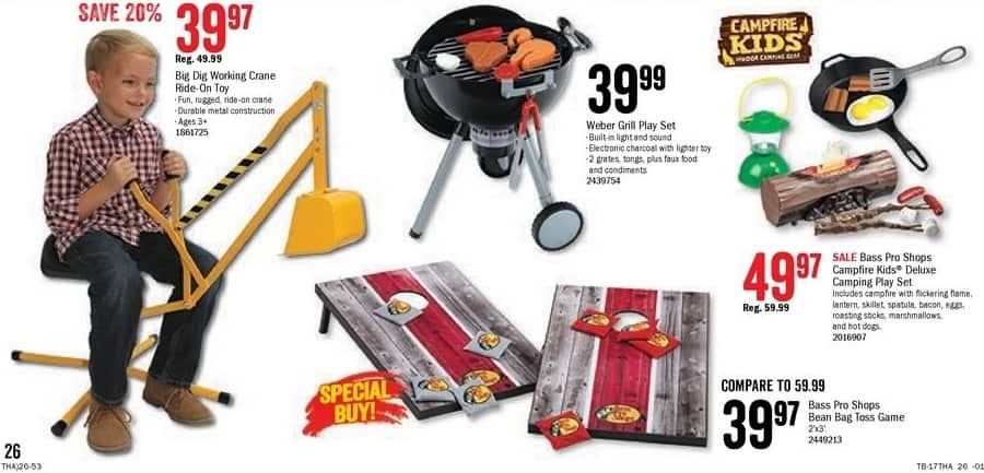 Bass Pro Shops Black Friday: Weber Grill Play Set for Kids for $39.99