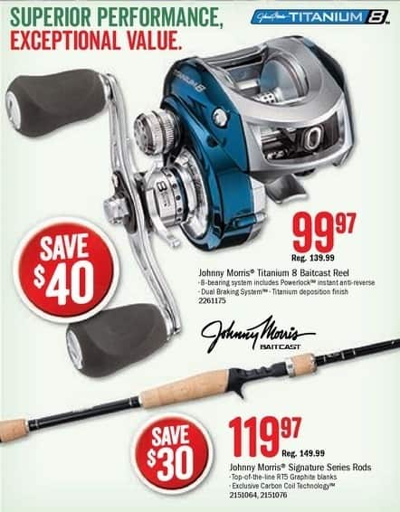 Bass Pro Shops Black Friday: Johnny Morris Signature Series Rods for $119.97