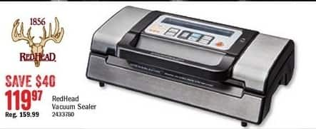 Bass Pro Shops Black Friday: RedHead Stainless Steel Vacuum Sealer for $119.97