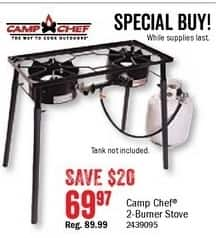 Bass Pro Shops Black Friday: Campo Chef 2-Burner Stove for $69.97