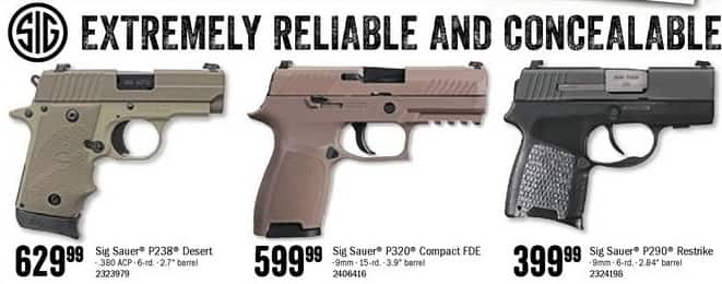 Bass Pro Shops Black Friday: Sig Sauer 9mm P320 Compact FDE for $599.99