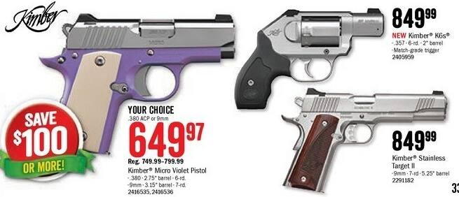 Bass Pro Shops Black Friday: Kimber .9mm Stainless Target II for $849.99