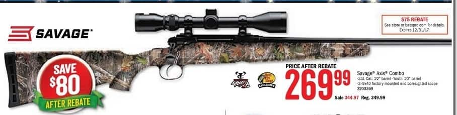 Bass Pro Shops Black Friday: Savage Axis Bolt-Action Rifle w