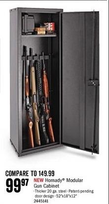 Bass Pro Shops Black Friday: Hornady Modular Gun Cabinet for $99.97