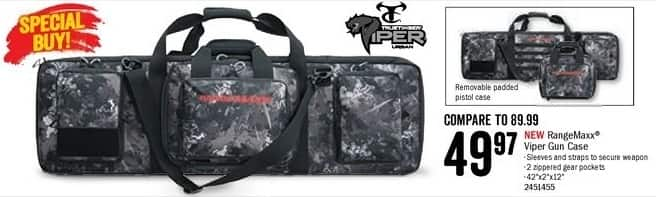 Bass Pro Shops Black Friday: RangeMaxx Viper Gun Case w/ Removable Padded Pistol Case for $49.97