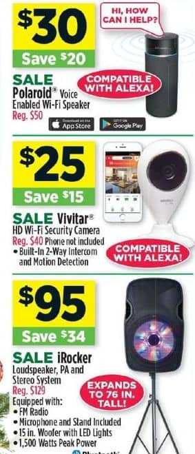 Dollar General Black Friday: Polaroid Voice Enabled Wi-Fi Speaker for $30.00