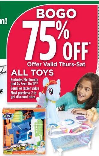 Dollar General Black Friday: All Toys - B1G1 75% Off