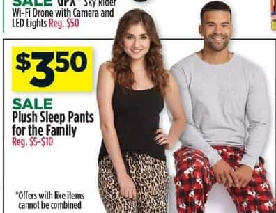 Dollar General Black Friday: Plush Sleep Pants For The Family for $3.50