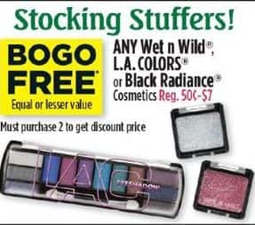 Dollar General Black Friday: Any Wet n Wild, L.A. Colors or Black Radiance Cosmetics Of Equal Or Lesser Value - B1G1  Free