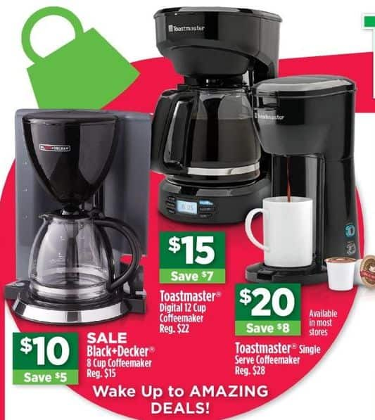 Dollar General Black Friday: Black + Decker 8 Cup Coffeemaker for $10.00