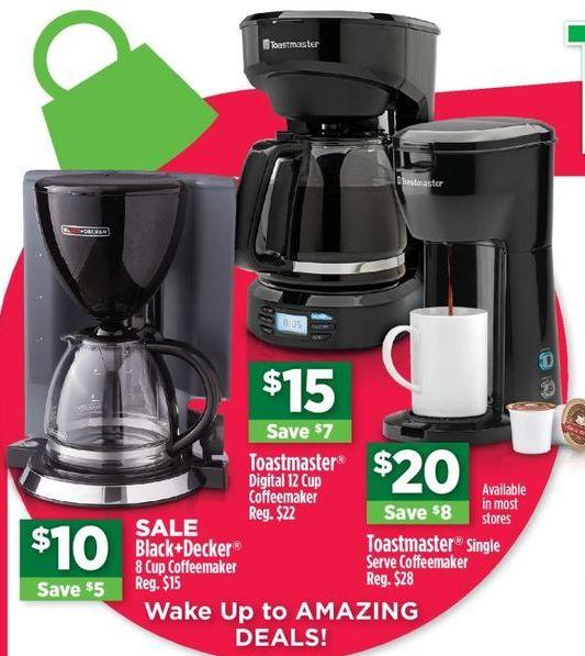 Dollar General Black Friday: Toastmaster Digital 12 Cup Coffeemaker for $15.00