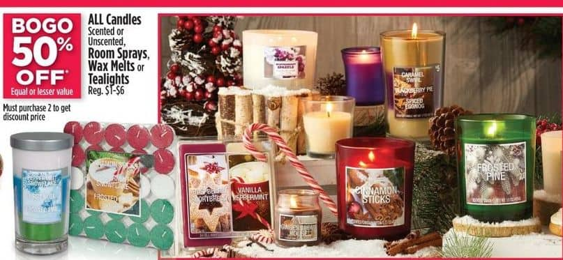 Dollar General Black Friday: All Scented or Unscented Candles, Room Sprays. Wax Melts Or Tealights - B1G1 50% Off