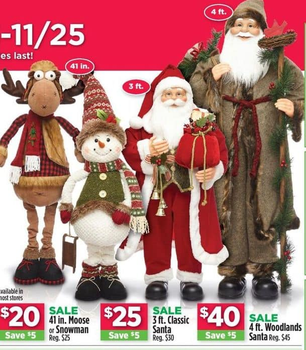 Dollar General Black Friday: 4 ft. Woodlands Santa for $40.00