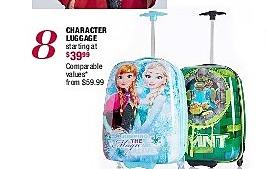 Burlington Coat Factory Black Friday: Character Luggage - Starting At $ 39.99