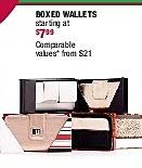 Burlington Coat Factory Black Friday: Womens Boxed Wallets - Starting At $7.99